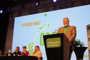 Bærums MDG leder Kim Zimmer under debatten om vern av matjord